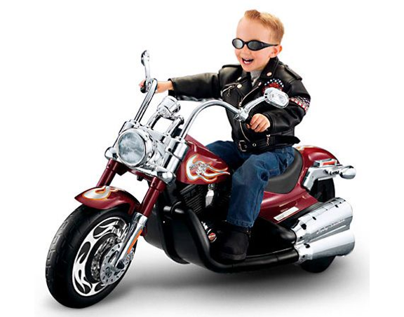 Kid on a motorcycle