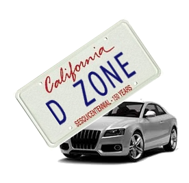 D Zone license plate