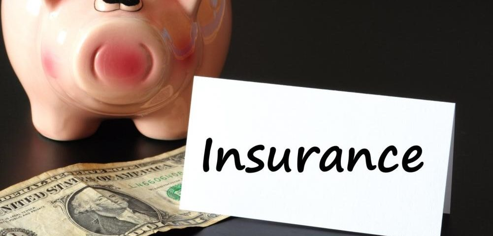 Piggy bank and money showing the concept of insurance